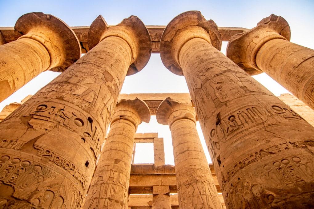 Il tempio di Karnak, uno dei luoghi simbolo dell'Antico Egitto.