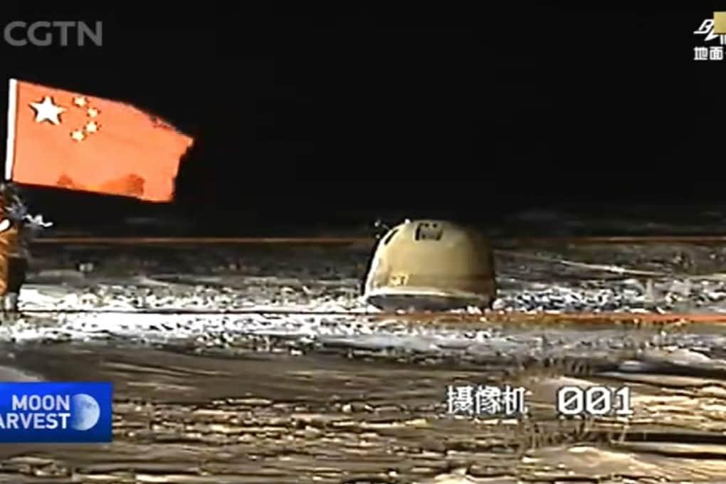La sonda cinese Chang'e-5 atterrata in Mongolia Interna.