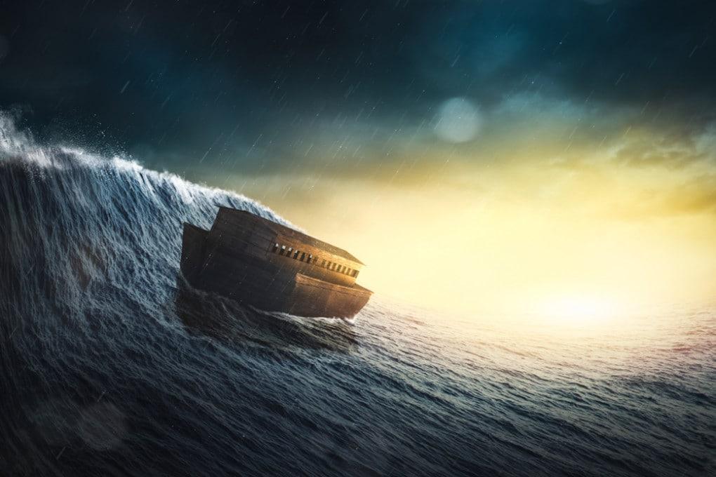 L'Arca di Noè in un'immagine concettuale. Il Mediterraneo orientale ha una ricca storia di maremoti.