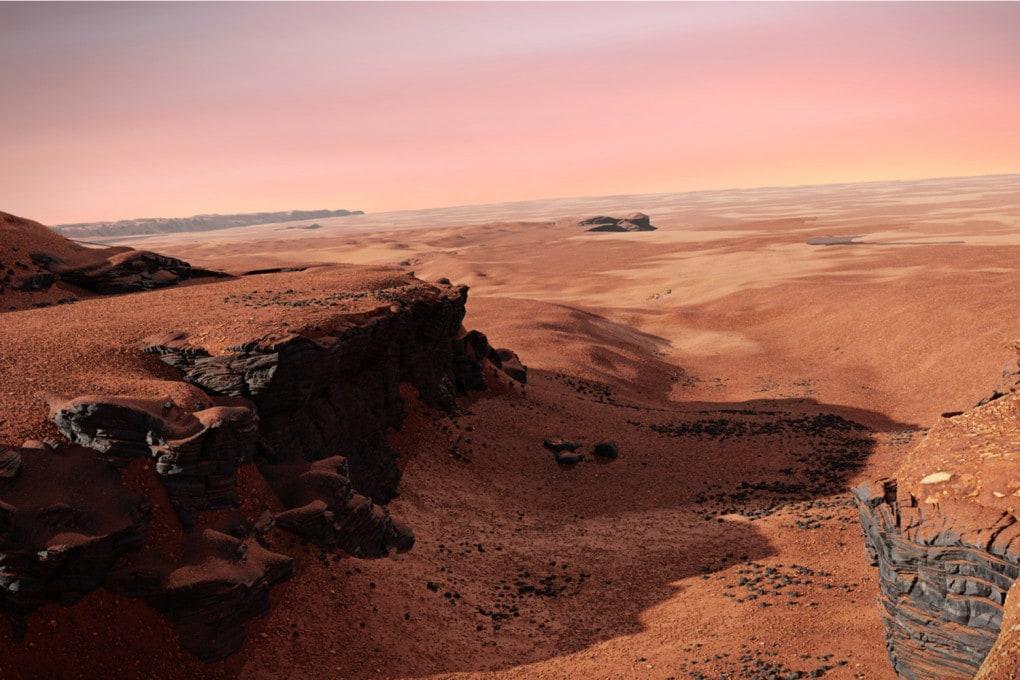 Marte: il cratere Jezero (illustrazione)
