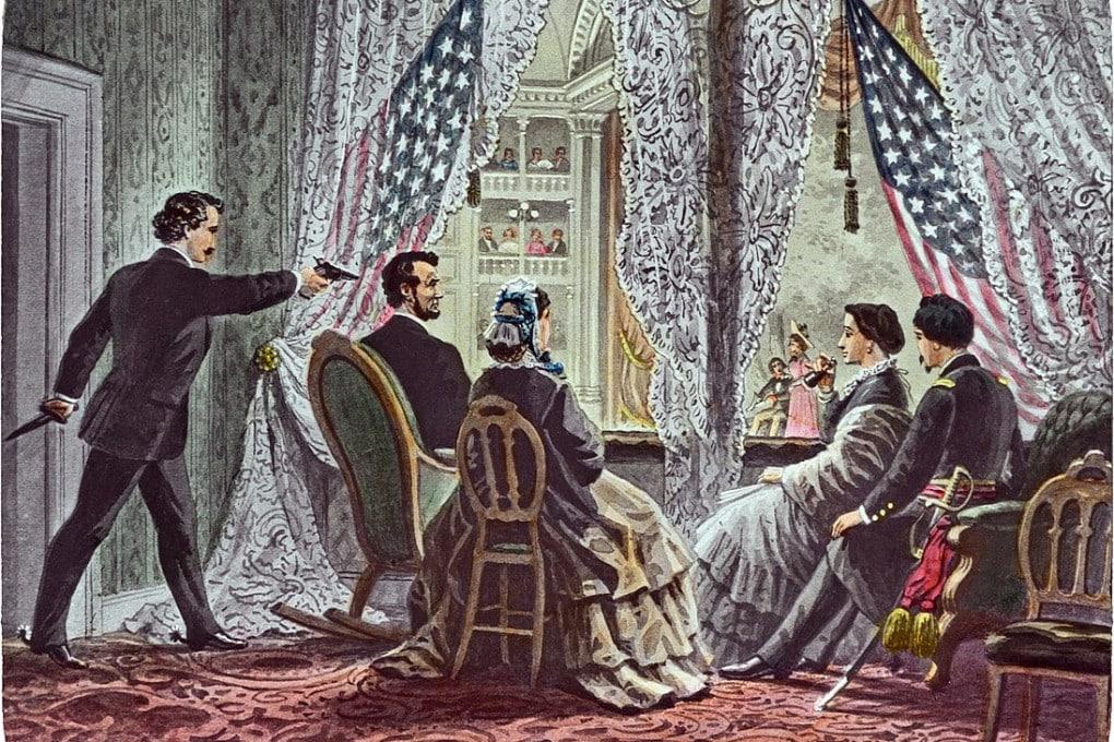 L'assassinio di Abraham Lincoln al Ford's Theatre di Washington.