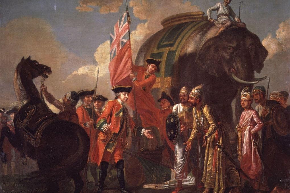 La vittoria a Plassey  (1757) del generale Clive.