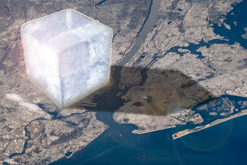 Un cubo di ghiaccio da 10 km