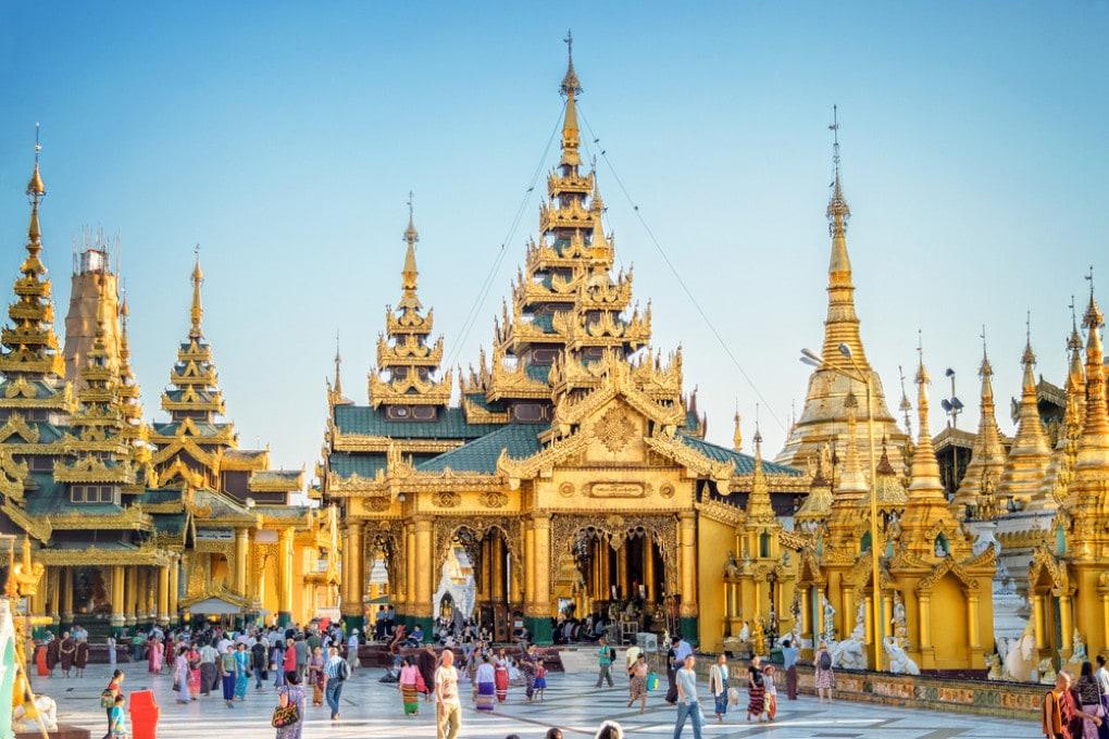 Pagoda Shwedagon a Yangon, in Myanmar.