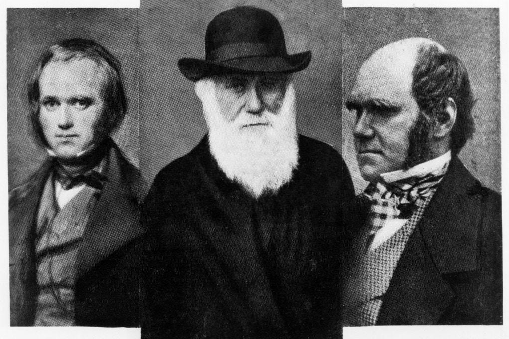 Da sinistra, Charles Darwin e Alfred Wallace.