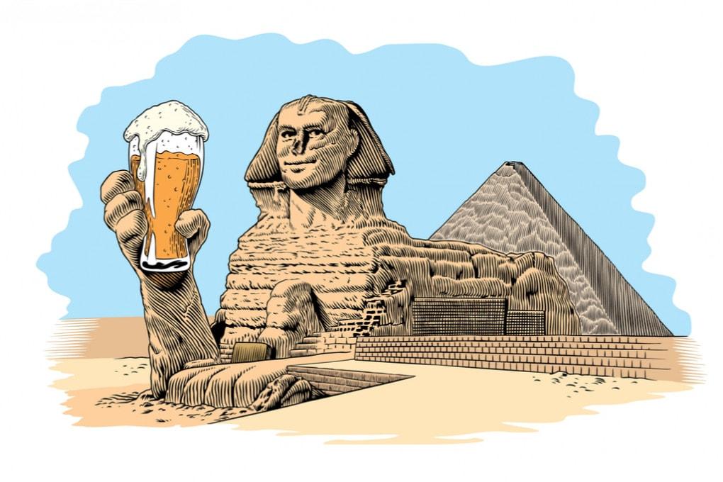 Sfinge e birra