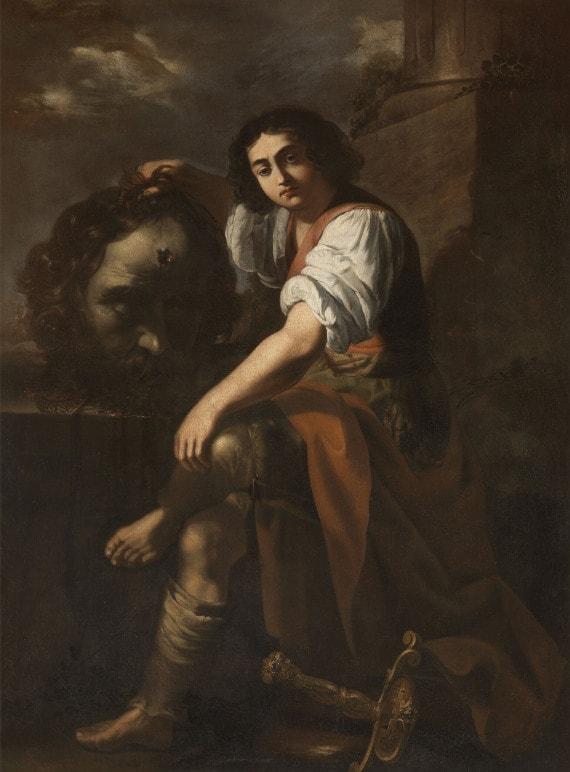 ARTEMISIA GENTILESCHI, DAVID CON LA TESTA DI GOLIA (1631)