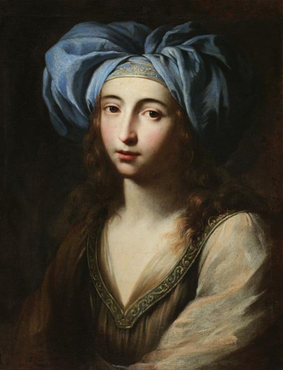 GINEVRA CANTOFOLI. GIOVANE DONNA IN ABITI ORIENTALE (1650 circa)