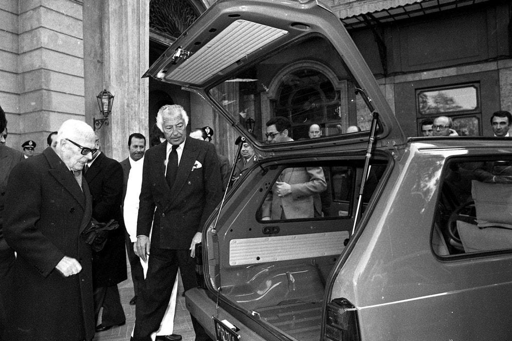 Gianni Agnelli e Sandro Pertini nel 1980