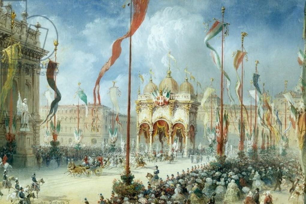 Il corteo reale all'inaugurazione del Parlamento del Regno d'Italia