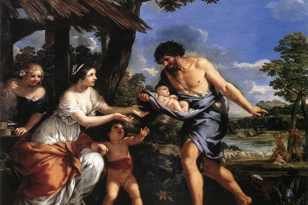 Romolo e Remo sorpresi da Faustulo di Pietro da Cortona (1634).