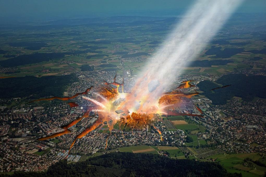 L'impatto di un asteroide sull'Europa di una realtà alternativa.