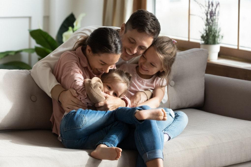 Abbracci in famiglia