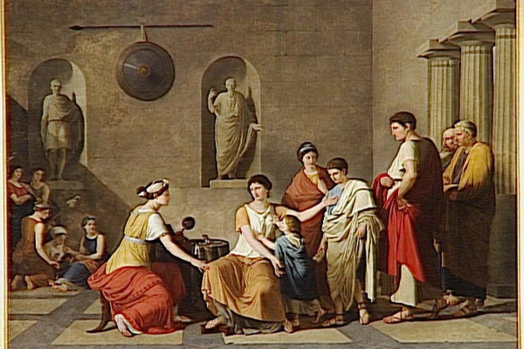 Cornelia, la madre dei Gracchi di Joseph-Benoît Suvée (1743 -1807).).