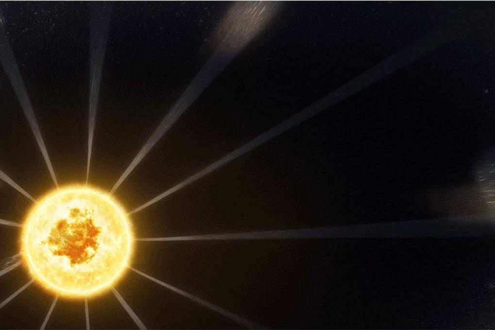 Distorsioni del vento solare (illustrazione)