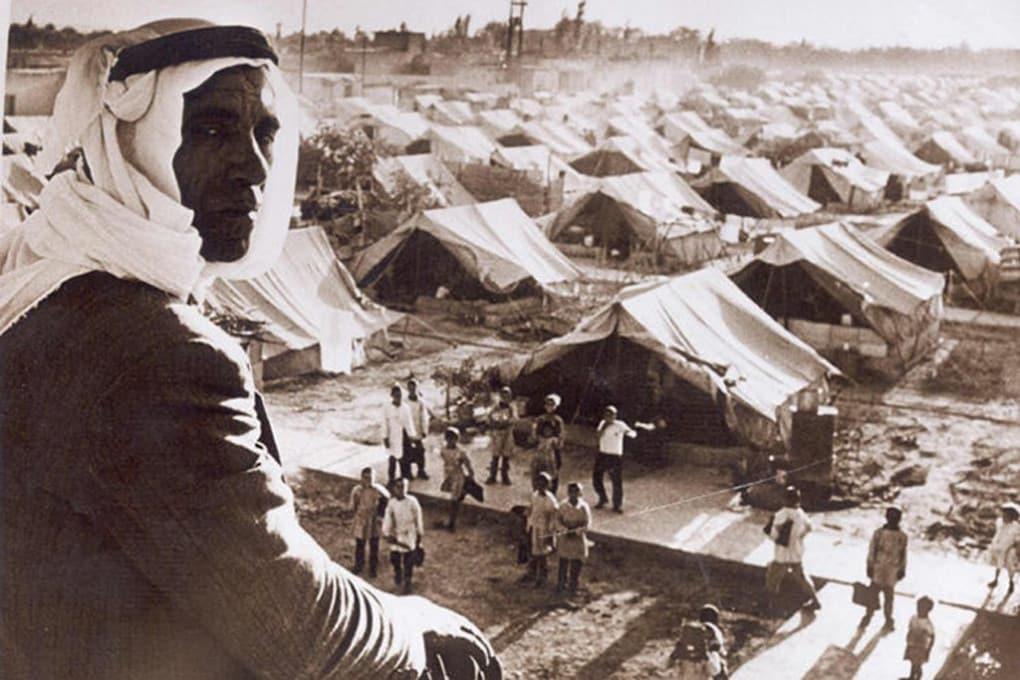 Un rifugiato palestinese nel campo profughi di Jaramana, Damasco, Siria, 1948.