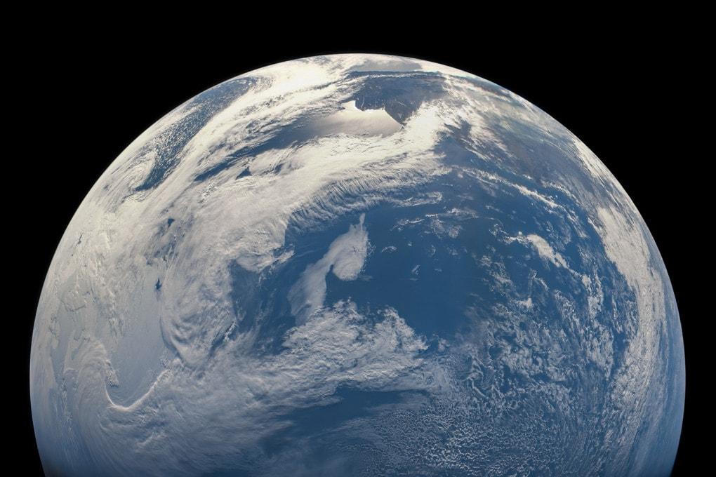 La Terra vista dalla sonda Juno durante la manovra Earth-Juno Gravity Assist, il 9 ottobre 2013.