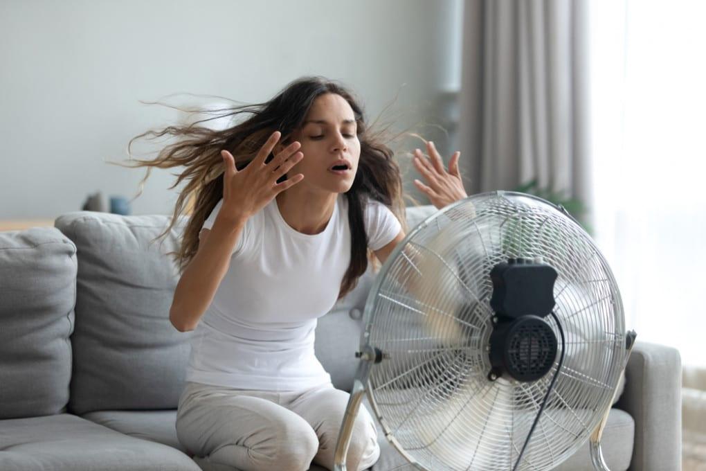 In molti vorrebbero trascorrere l'estate così: davanti a un ventilatore.