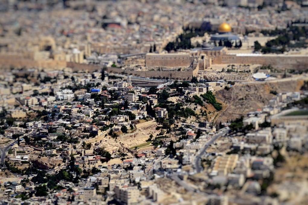 Veduta aerea della Città di David, a Gerusalemme.