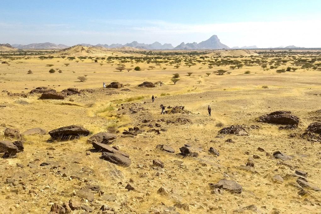 Sudan: la necropoli vicina alla collina di Jebel Maman.