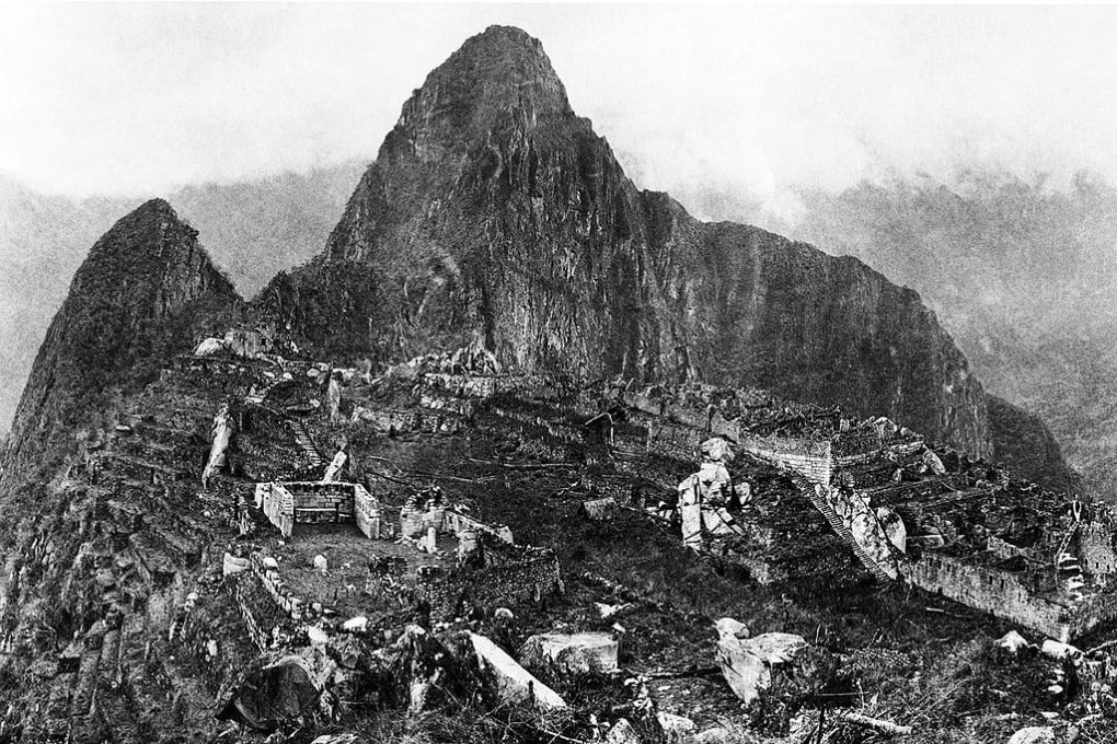 Machu Picchu nel 1912 dopo importanti lavori di bonifica.