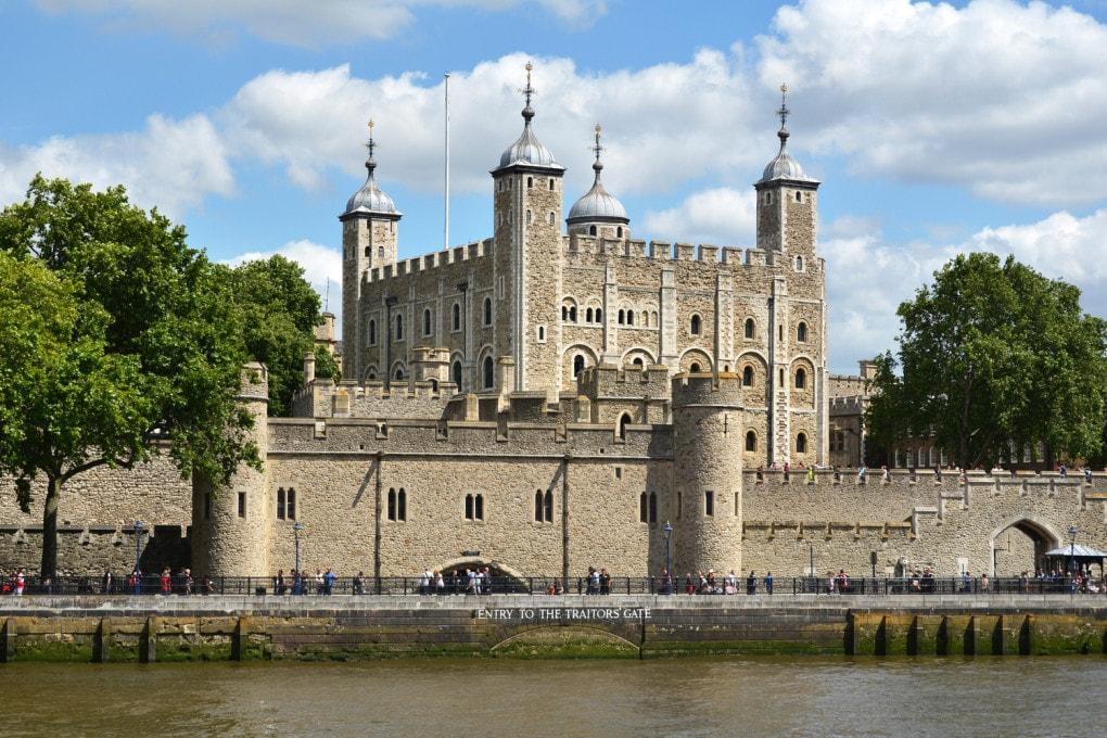 La Torre di Londra, Patrimonio Unesco dal 1988.