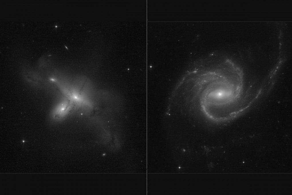 Le prime immagini inviate dal telescopio spaziale Hubble dopo il suo ritorno all'attività.