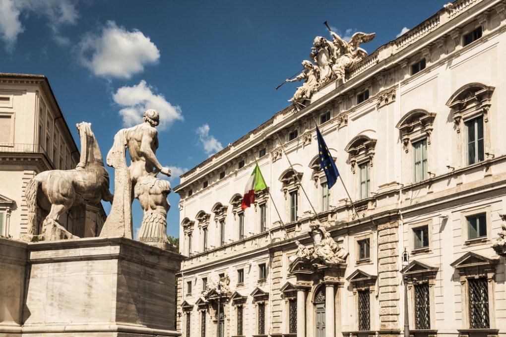 Il palazzo del Quirinale a Roma