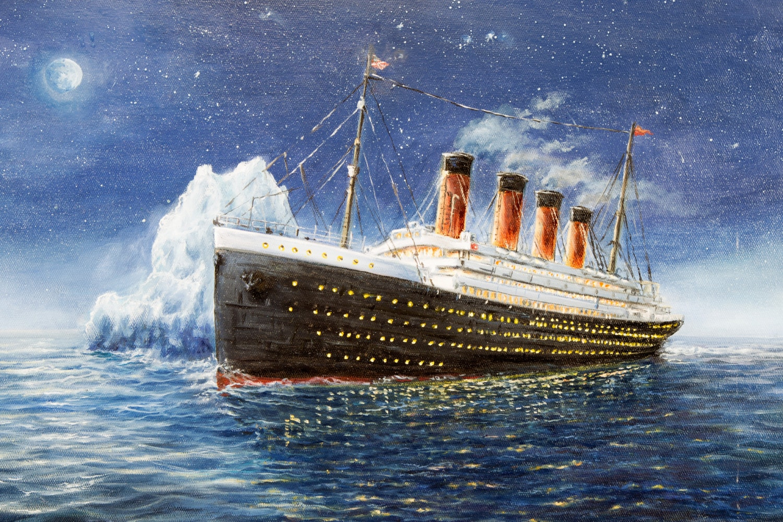 Titanic, dipinto