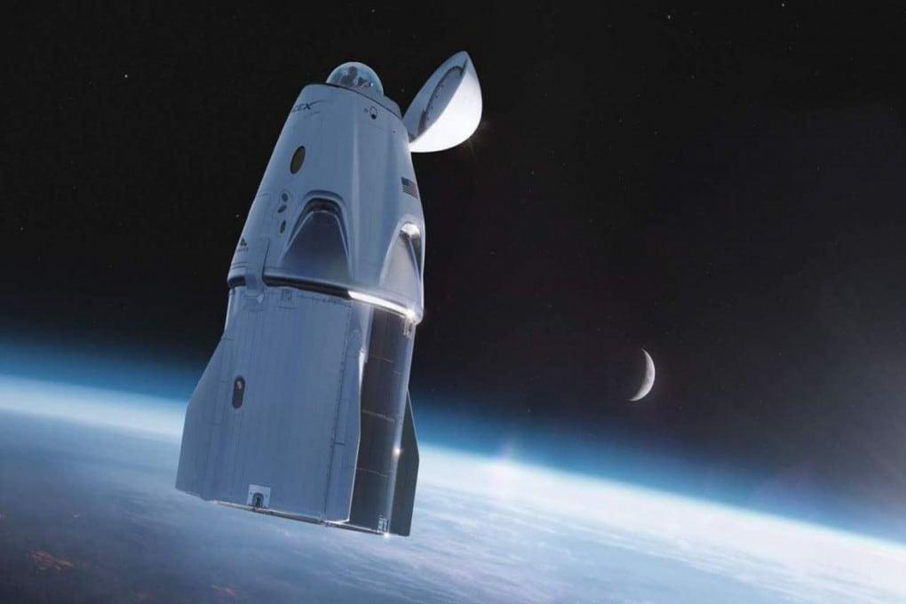 Illustrazione: la cupola di vetro della Crew Dragon Resilience.