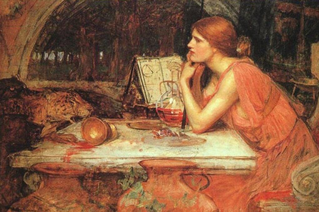 Immagine simobolica di una donna che prepara una pozione velenosa.