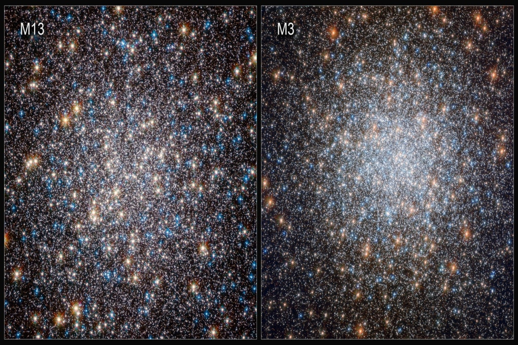 I due ammassi stellari, M13 (a sinistra) e M3, nei quali sono state identificate oltre 700 nane bianche