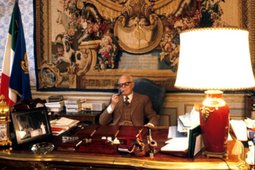 Sandro Pertini al Quirinale. Fu presidente della Repubblica dal 9 luglio 1978 al 29 giugno 1985.