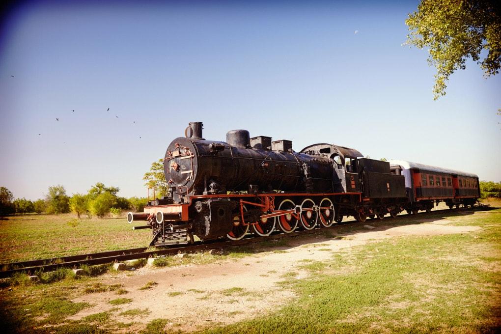 Una delle locomotive originali dell'Orient Express.