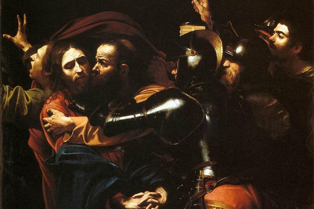 La Cattura di Cristo di Caravaggio (1598)