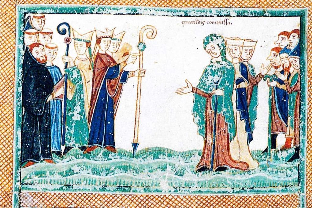 Matilde di Canossa con il vescovo di Modena