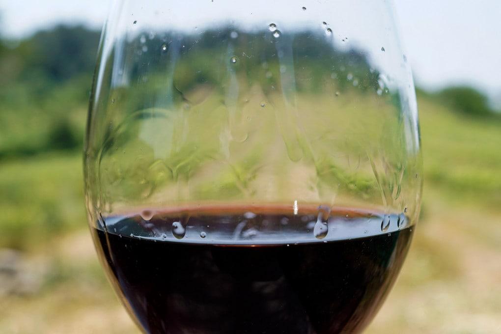 Le lacrime del vino rivelano la gradazione alcolica: più gradi, più lacrime.