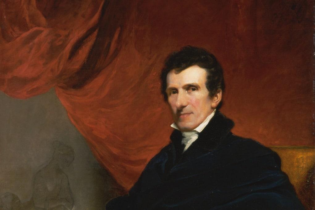 John Jackson, ritratto di Antonio Canova (1819-20), dettaglio.