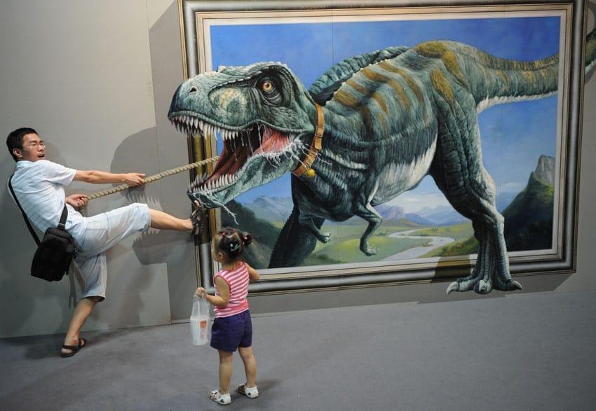 Benvenuti nel museo dei quadri 3D
