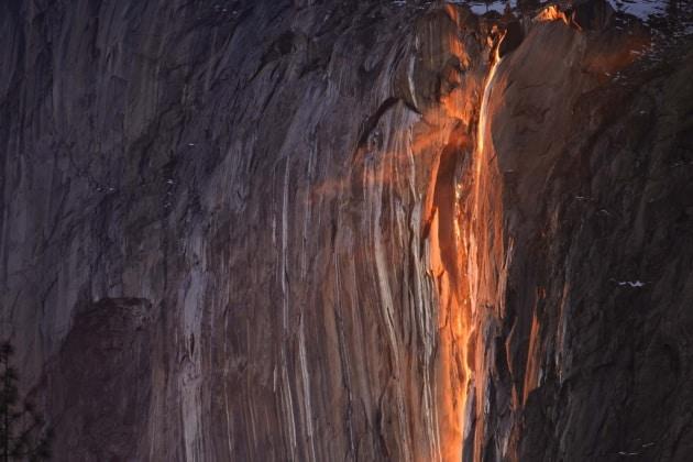 Cascate di fuoco: lo spettacolo delle Yosemite Falls