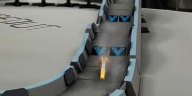La pista di macchinine a levitazione quantistica