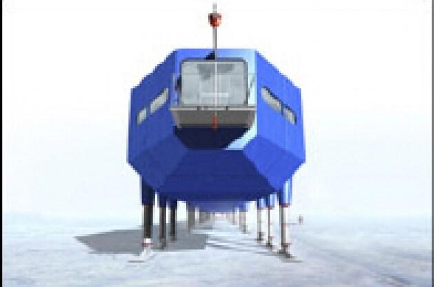 La base mobile al Polo Sud viaggia sugli