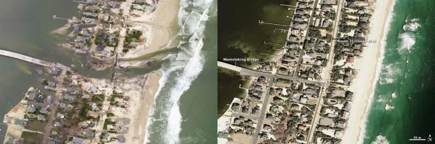 Prima e dopo Sandy: le foto della devastazione sulla costa del New Jersey