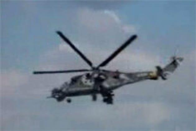 L'elicottero con le pale ferme
