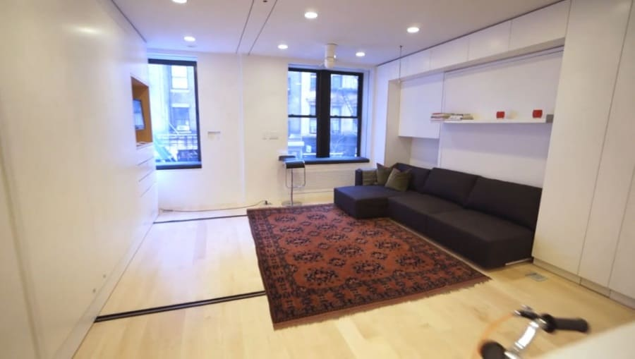 L'appartamento da 8 stanze in 37 mq