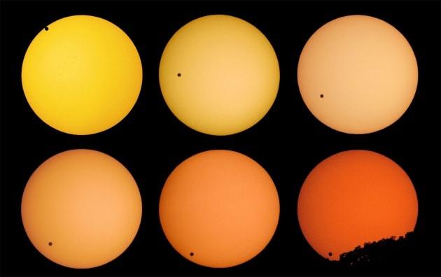 Il transito di Venere sul Sole in diretta