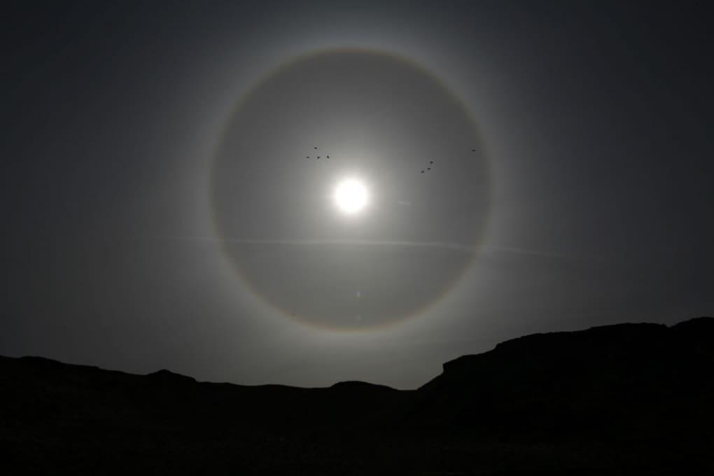 Un alone attorno al Sole