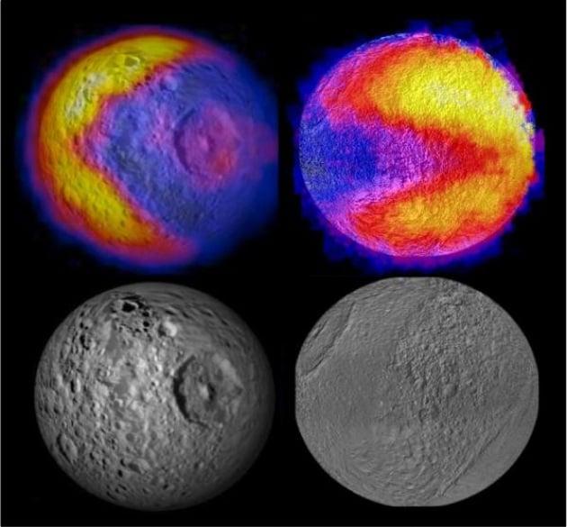 Le lune di Saturno giocano a Pac-Man
