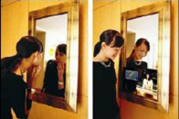 Televisore allo specchio