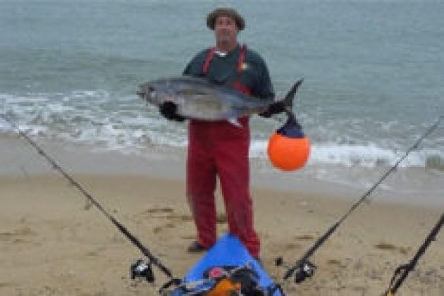 Ho preso un tonno in kayak